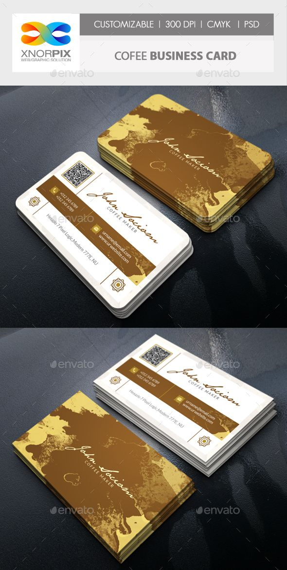 Coffee Business Card | Coffee business, Business cards and Card ...