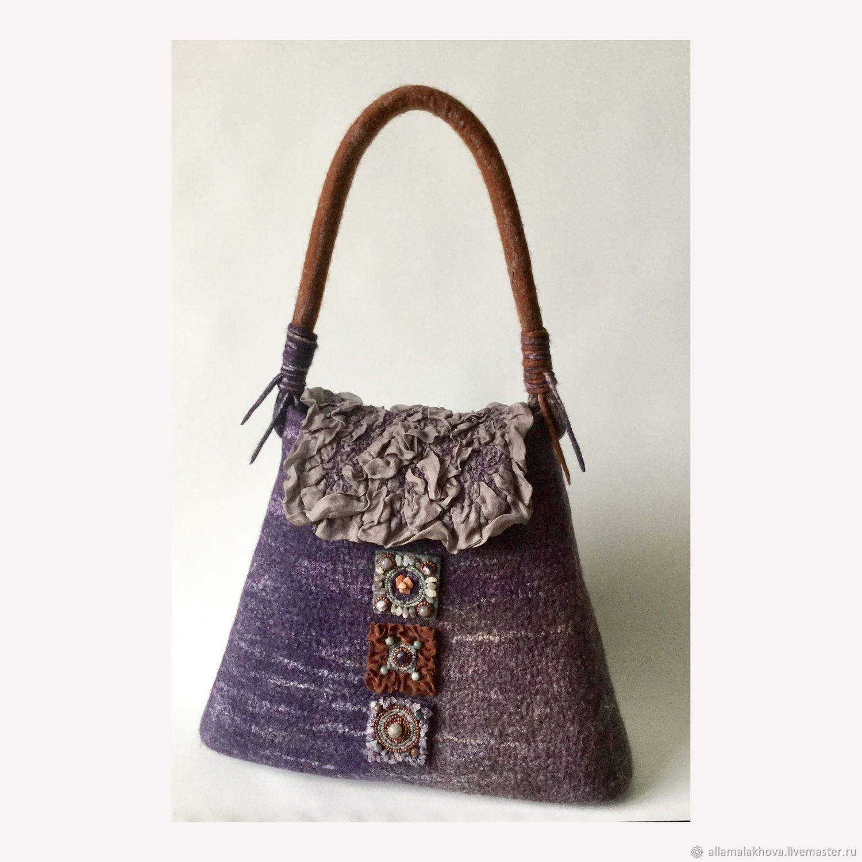 ba95692acfa6 Валяная сумка Медь, Фиалка и Самоцветы - купить или заказать в  интернет-магазине на