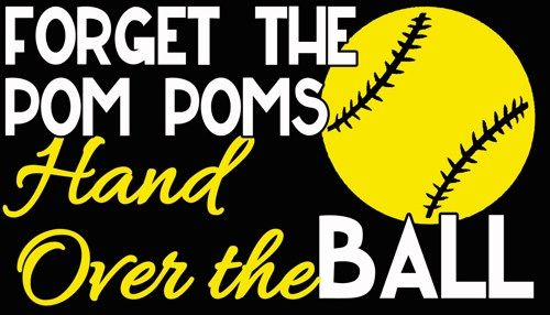 2 Color Hand Over The Ball Softball Vinyl Decal Vehicle Sticker Car Softball Vinyl Decals Vinyl Decal Stickers