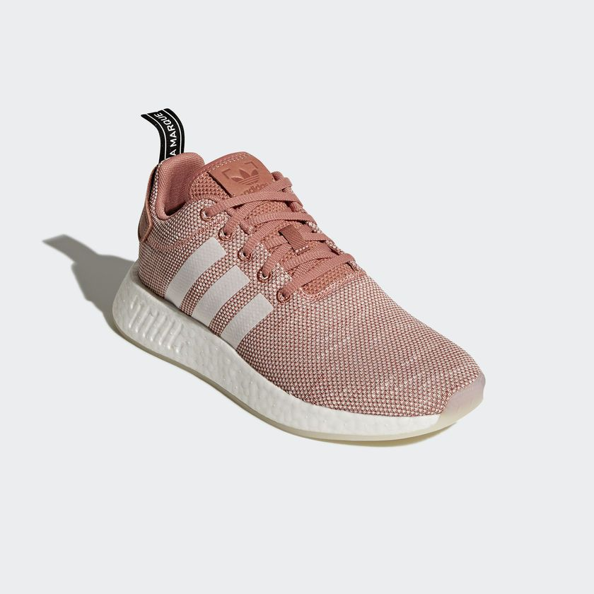 7e053c930 Adidas Originals Nmd R2 W Women Boost Ash Pink Clear Running Shoes new  CQ2007
