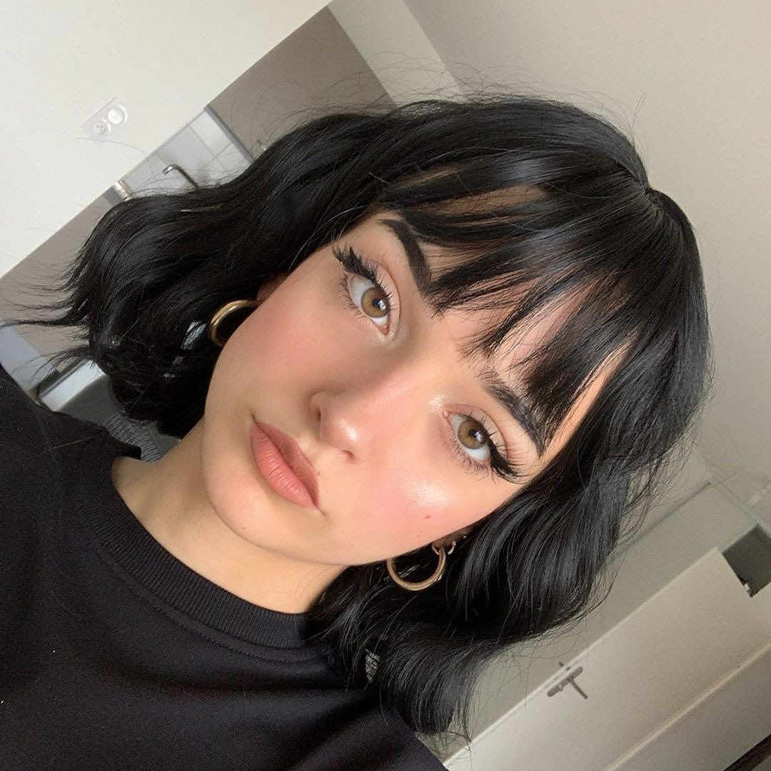 Aesthetic Rainbow On Instagram Comment I Feel And Then Press The Suggested Word Until You Have A Senten Short Hair Styles Short Hair With Bangs Grunge Hair
