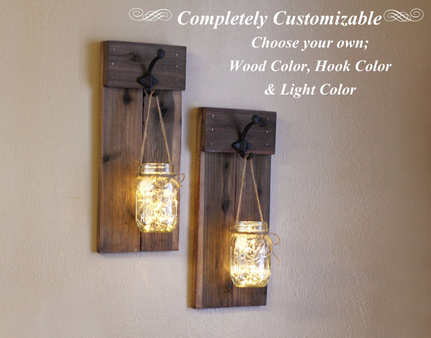 Mason Jar Wall Sconces Candle Holder