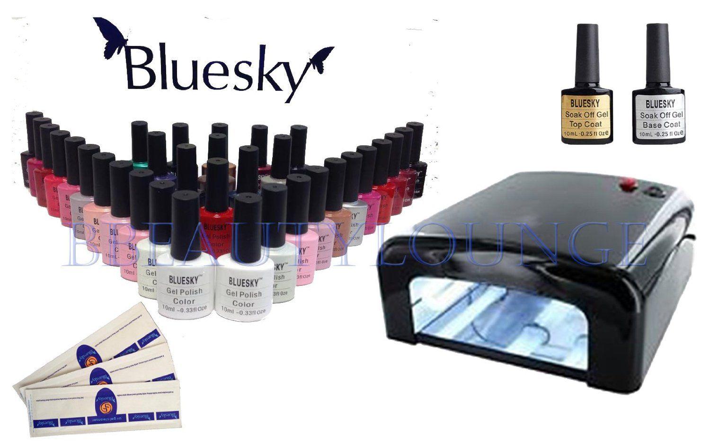 BBEAUTYLOUNGE BLUESKY UV/LED NAIL GEL POLISH STARTER KIT BLACK 36W ...