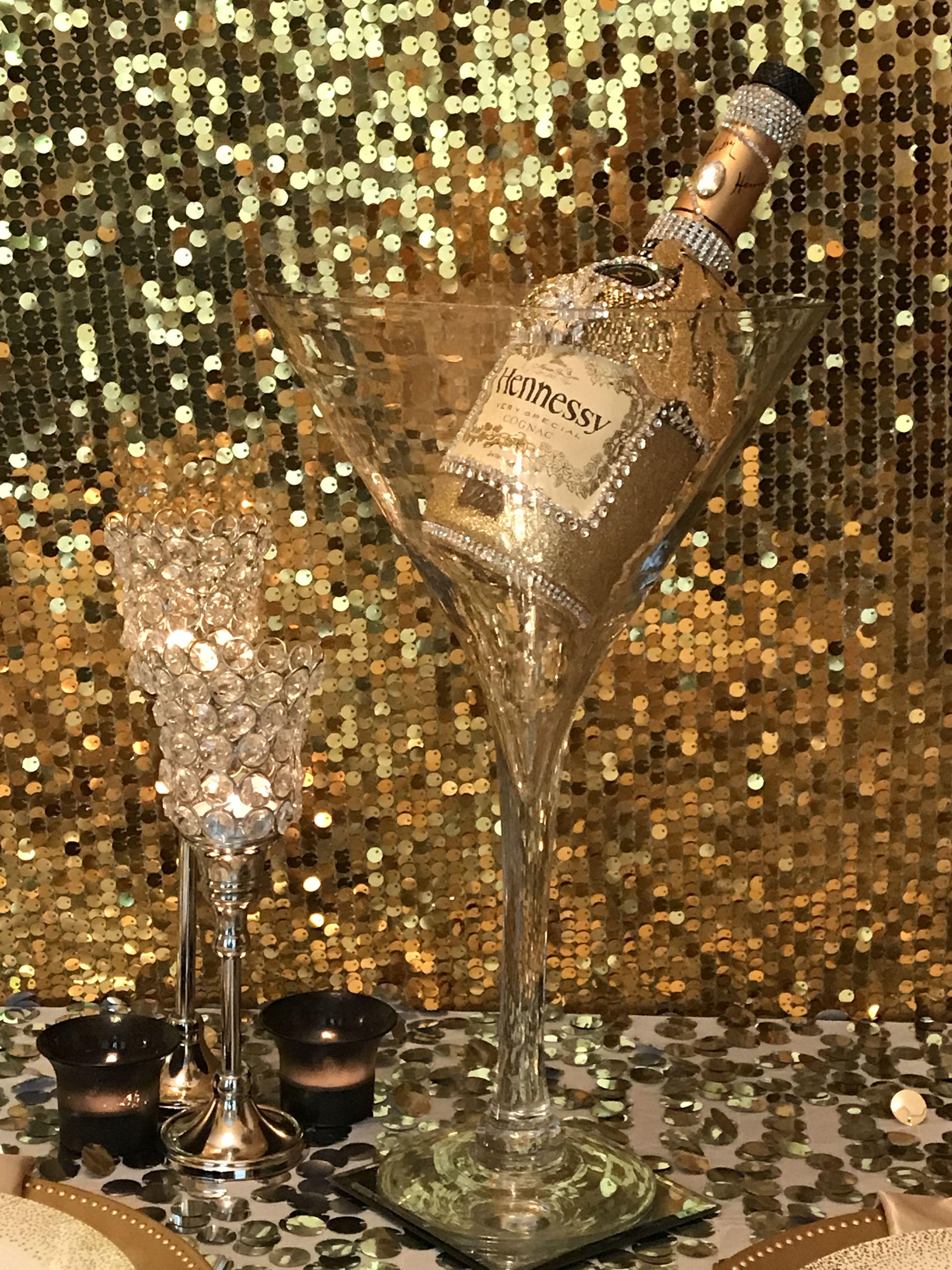 Hennessy Bottle Centerpiece Elegant Events By Kim Diy