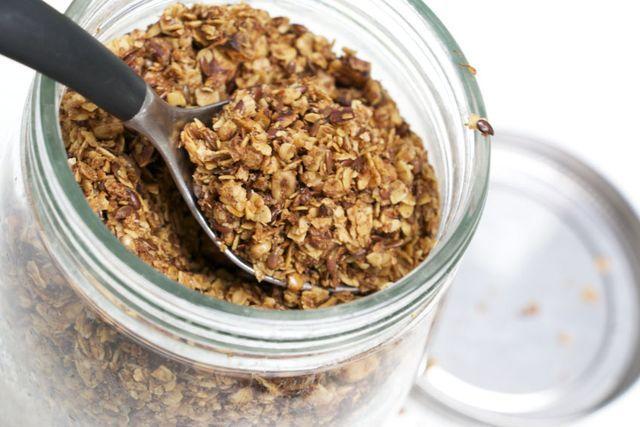 granola med kokosolja