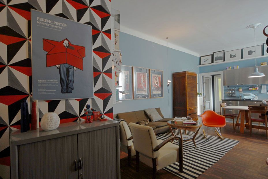 Lorena masdea ristrutturazione low cost appartamento vintage milano soggiorno 1