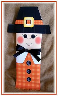 Homespun With Love: Pilgrim Candy Bar Wrappers