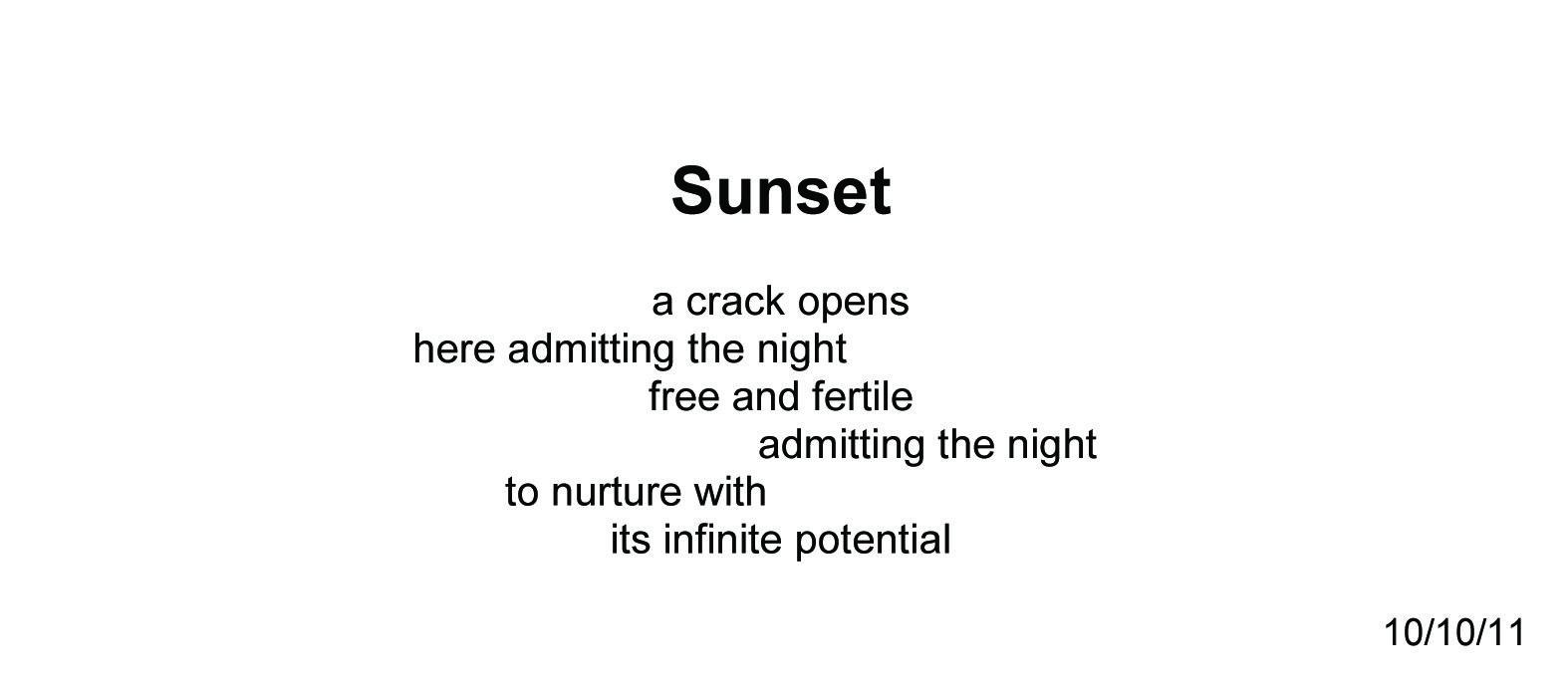 Sunset ~ Quantum Meditation #1995