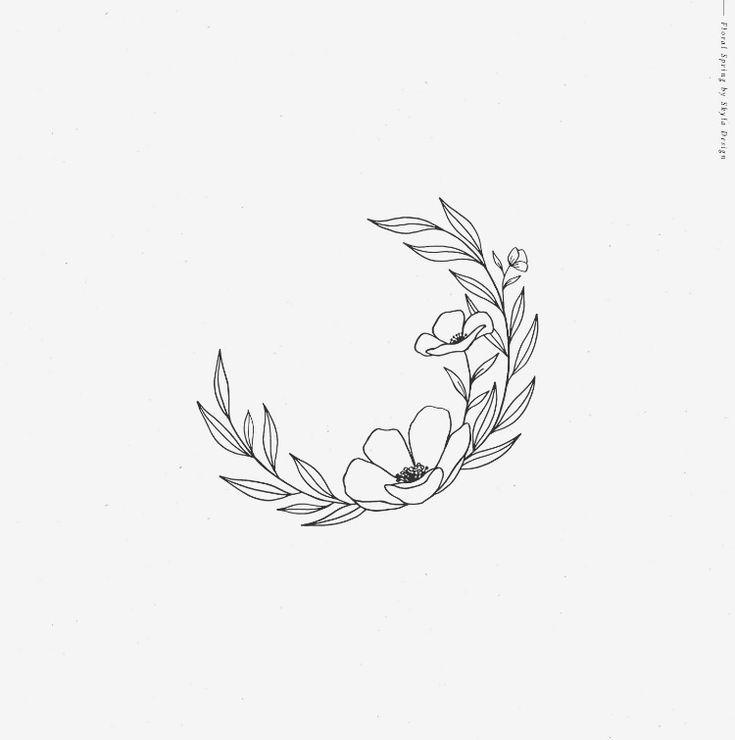 Photo of Floral spring illustrations of alphabet, flower clipart bundle, laurel wreath flourish