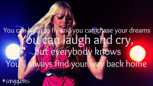 You Ll Always Find Your Way Back Home Song Quotes Laughing And Crying Finding Yourself