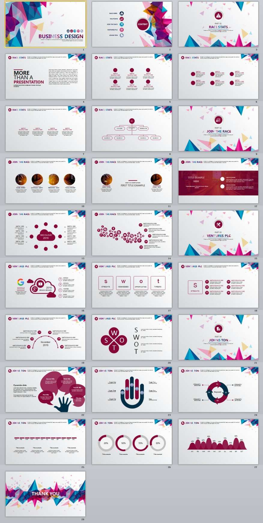 28+ best business multicolor powerpoint templates | the highest, Modern powerpoint