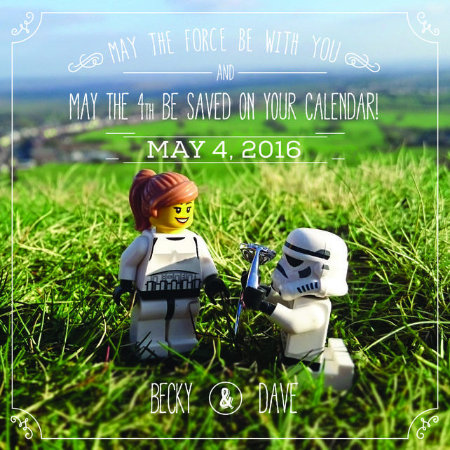 Save The Date Printable And Customisable Star Wars Save The Date