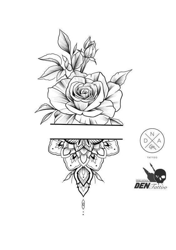 55 Simple Little Flowers Tattoos Drawing Tattoos Ideas For Women This Season …  #diytattoo – diy best tattoo ideas
