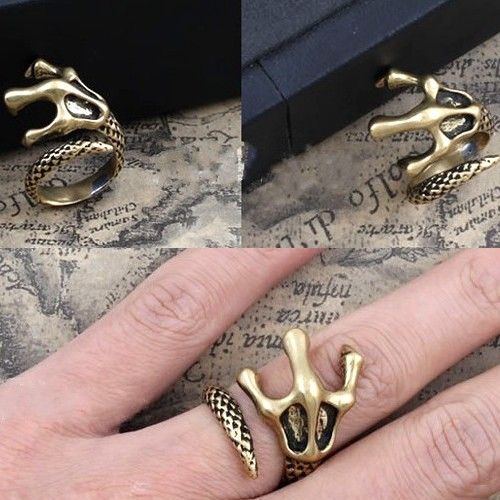 Vintage Dragon Claw Cocktail Ring - Rings - Jewelry Free shipping