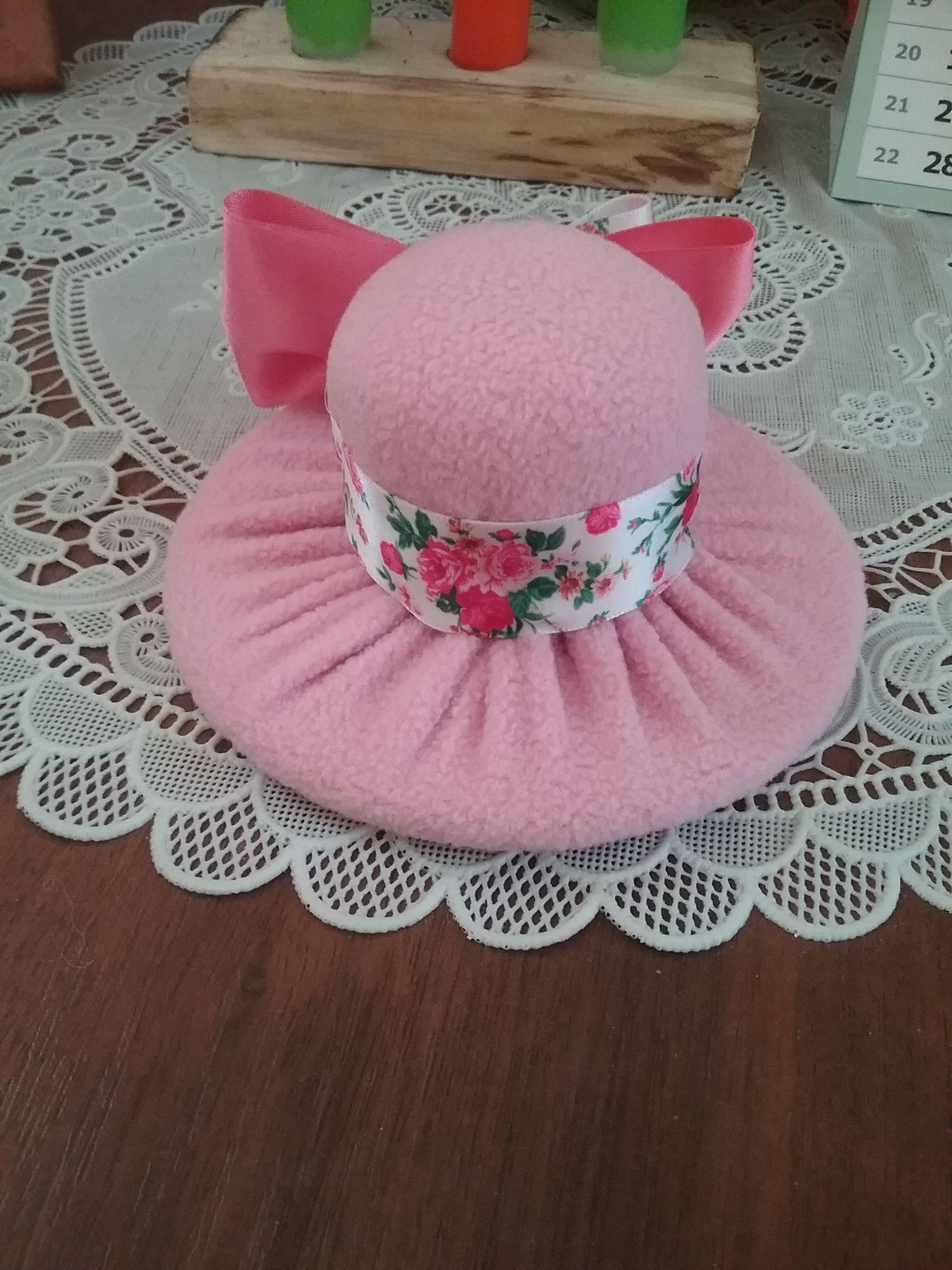Шляпка игольница из розового флиса | Своими руками ...