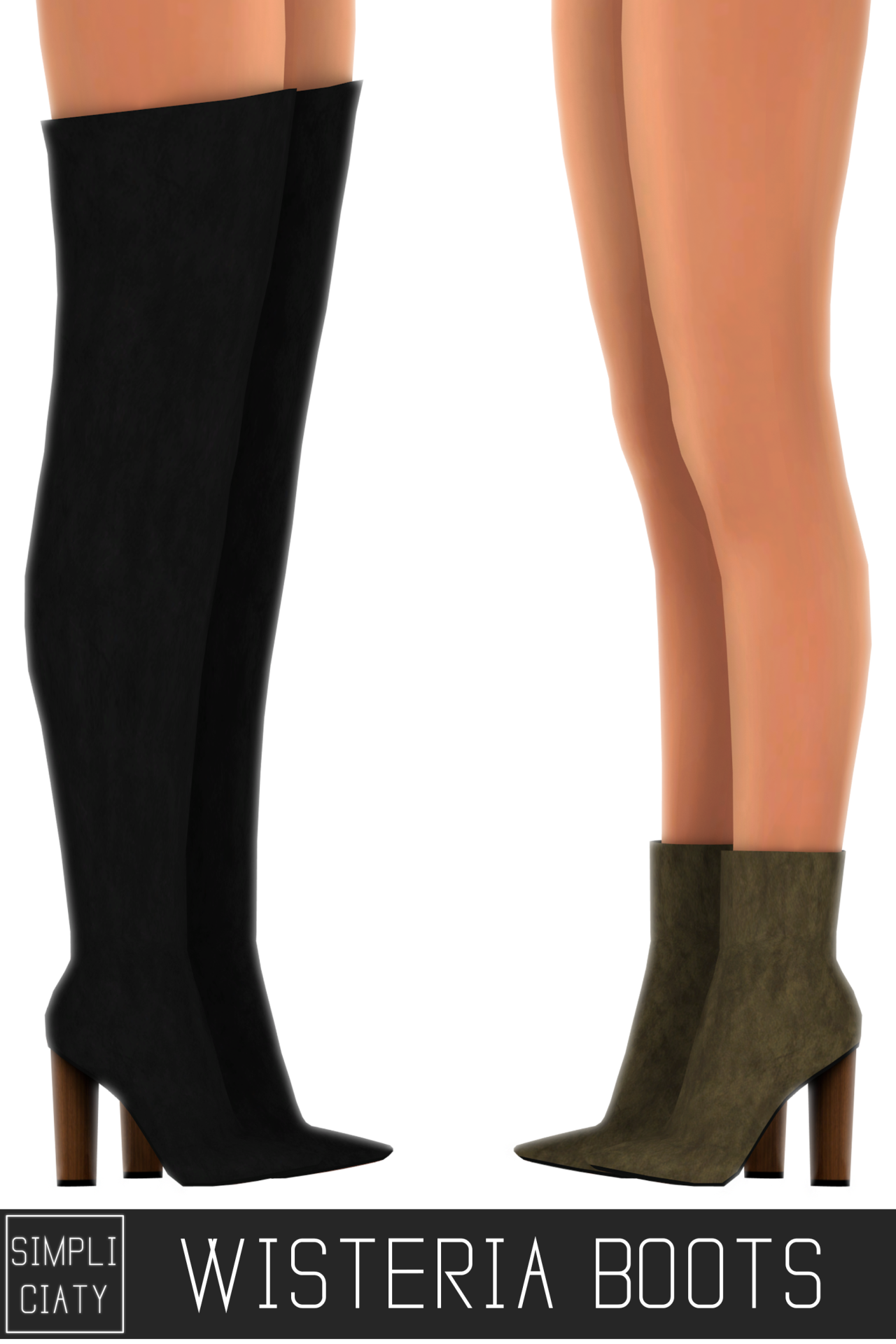 """The Sims 4 Snake Thigh Tatoo: Trillyke: """" Simpliciaty: """" WISTERIA BOOTS • 18 Colors"""