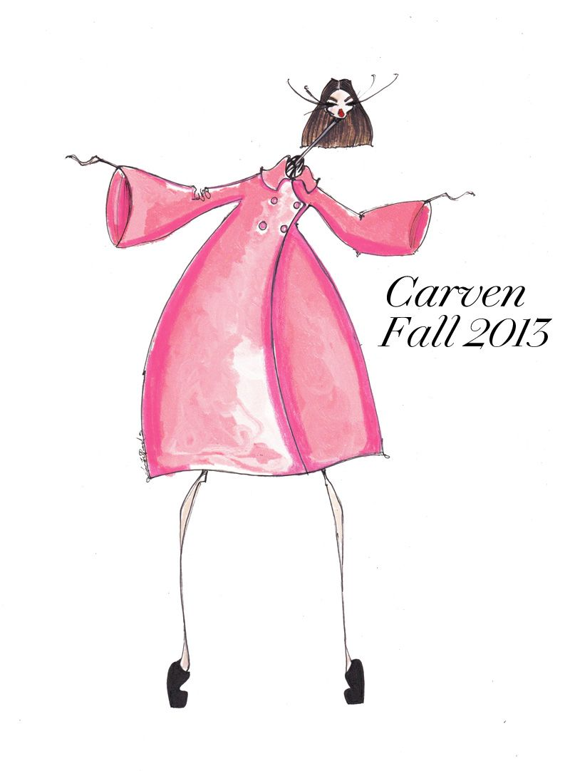 Carven Fall 2013 Illustration Jamie Lee Reardin