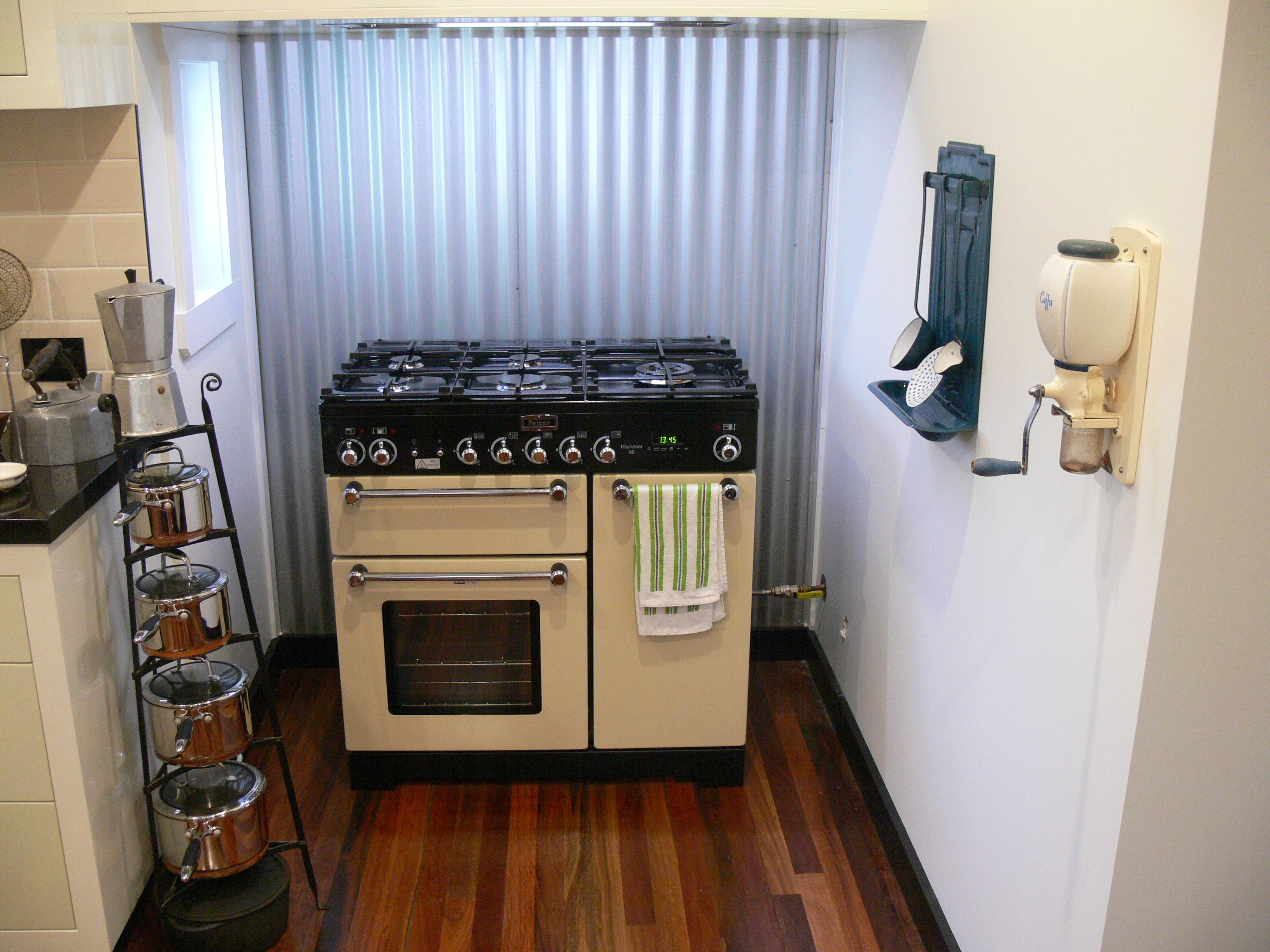 falcon stove in it s traditional queenslander house corrugated