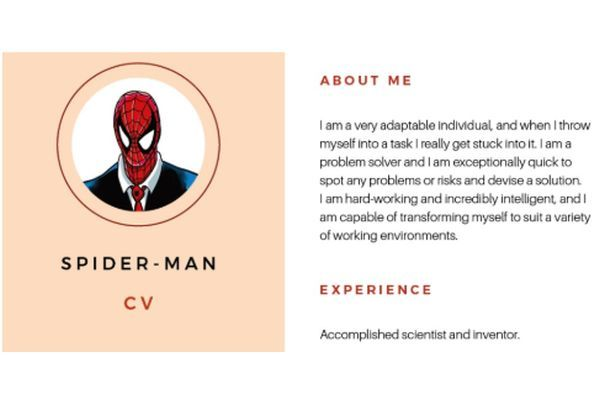 Infographic Résumé writing tips from \u0027The Avengers\u0027 Job Interview