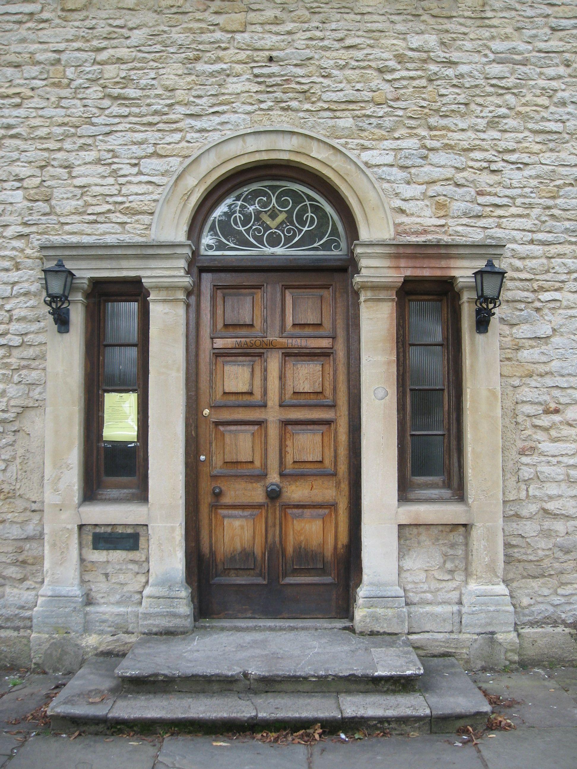 beautiful brown door, England