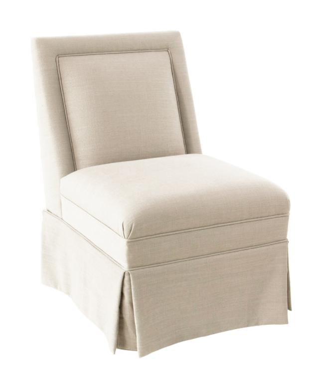 Greer Skirted Slipper Chair, Navy Linen | Chairs | Pinterest | Slipper  Chairs, Linens And Kings Lane