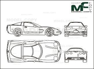 Chevrolet Corvette Coupe Drawing Fiat Doblo Nissan Terrano