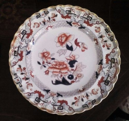 English Porcelain - Handpainted plate. C1860-1880,has diamond registration mark…