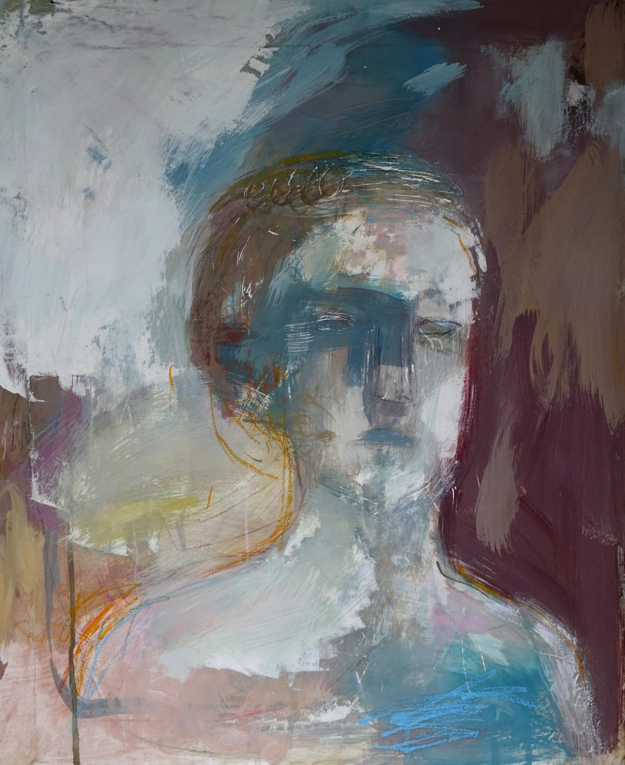 """""""la Reine Chue"""" 54x65cm Acrylique Sur Toile Art"""