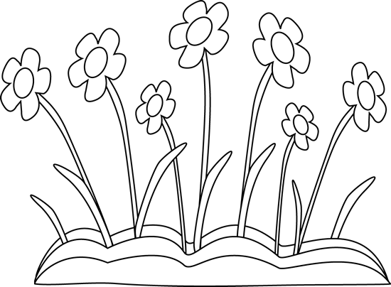 black and white spring flower patch clip art black and white rh pinterest com flowers clipart black and white border flowers clipart black and white vector