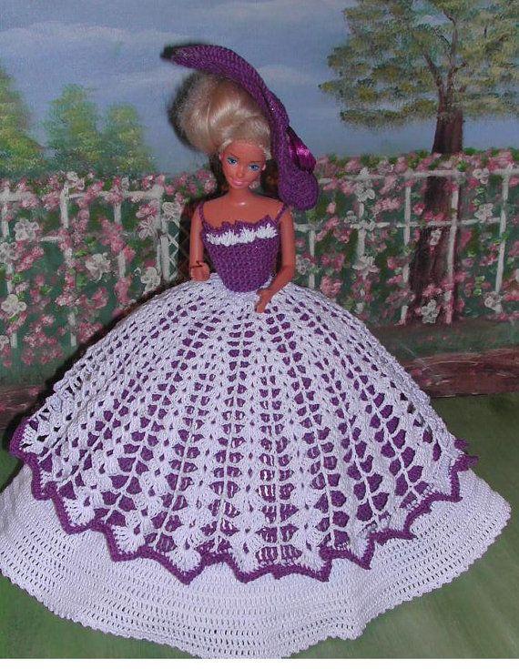 Crochet Fashion Doll Barbie Pattern- #234 LADY CAROLINE | Barbie ...