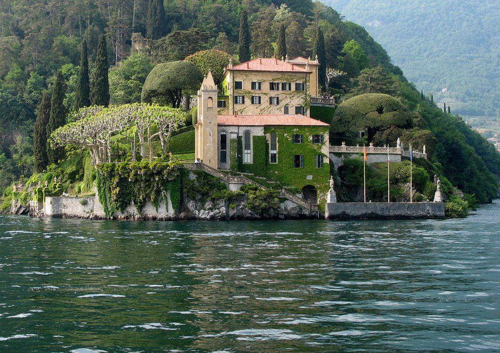 View from Villa del Balbianello on the western shores of