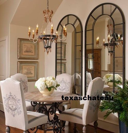 79 Xl 1 Large Black Arched Windowpane Wall Mirror Horchow Neiman Marcus New Mirror Wall Mirror Dining Room Home Decor Mirrors