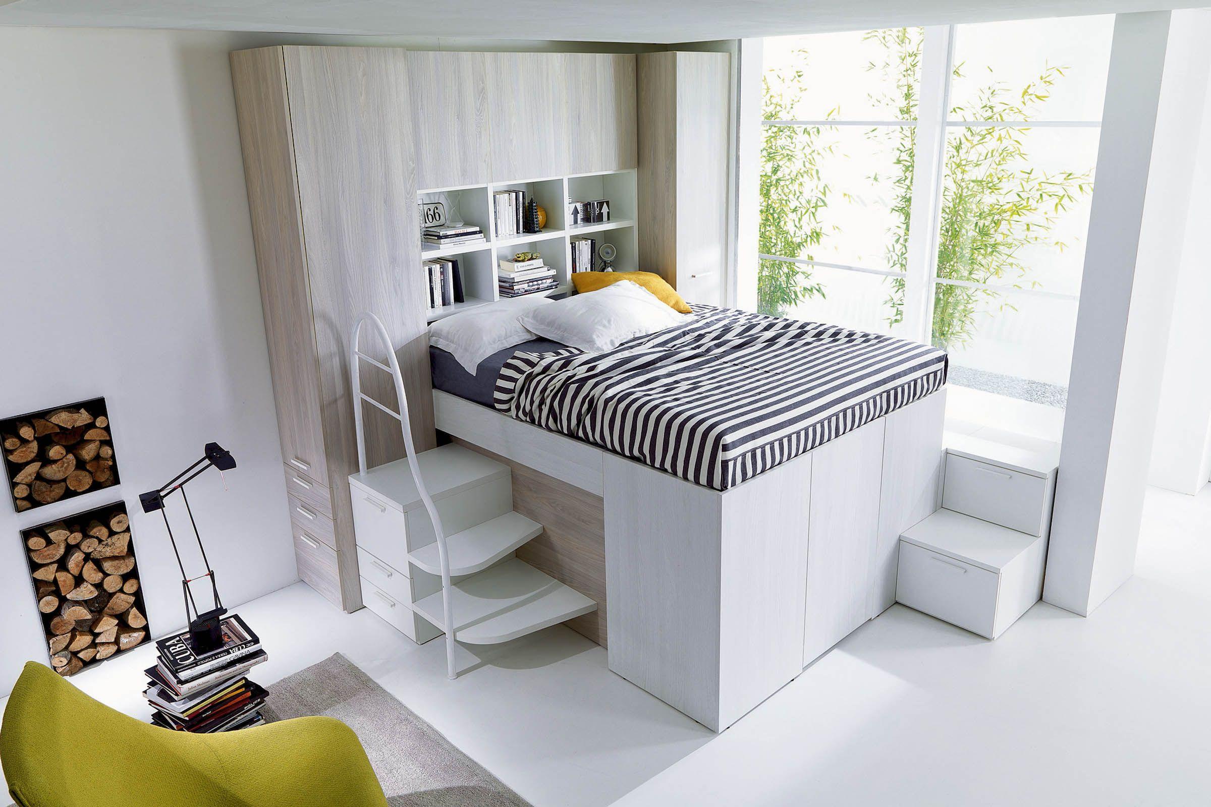 Idee Camere Da Letto Salvaspazio camera componibile salvaspazio moderna d26 | letti a