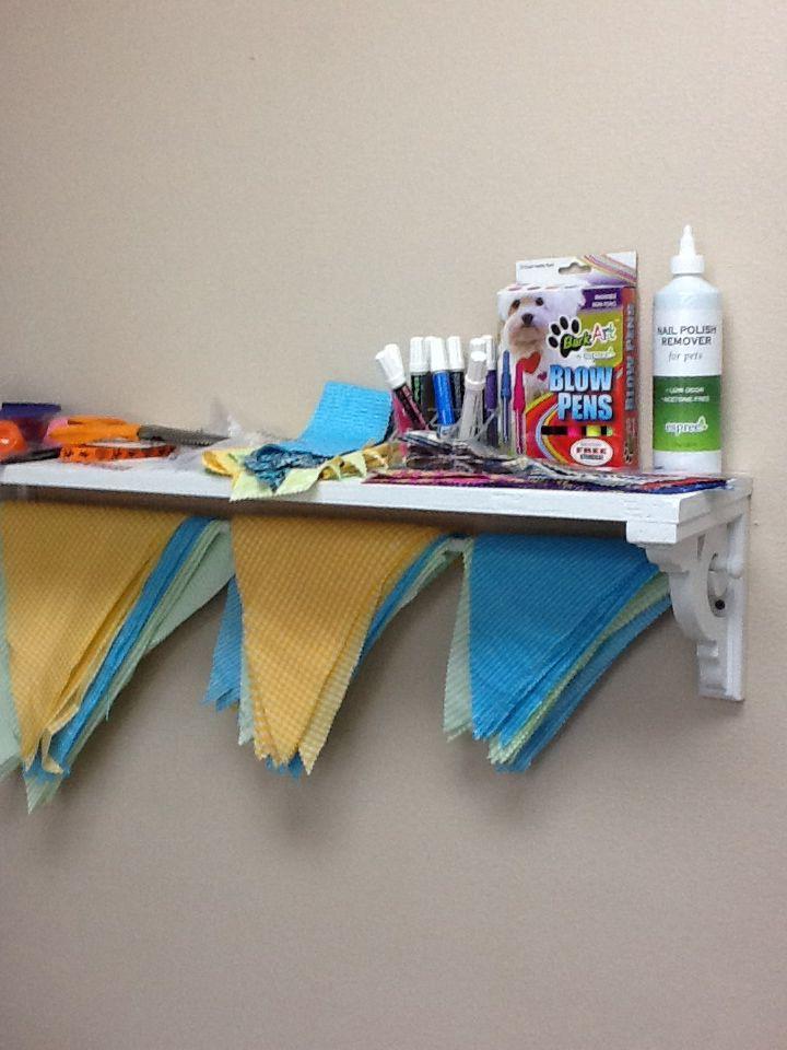 Diy Shelf Display For Dog Bandanas Dog Grooming Salons Dog Grooming Shop Grooming Shop