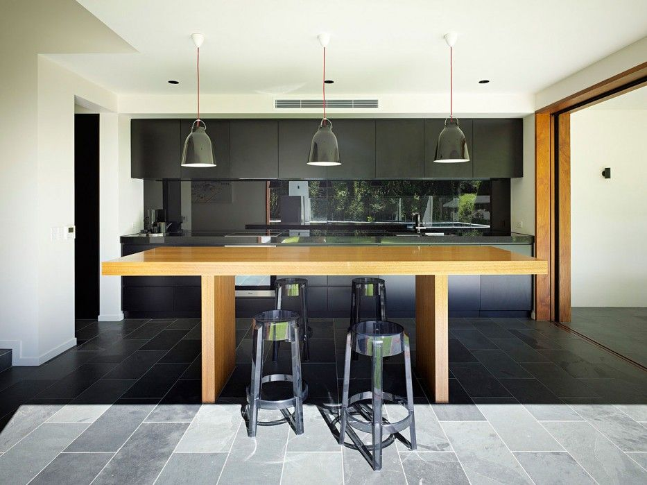 Delicieux Black Lamp Black Kitchen Contemporary Home Bar Design Black Unique Bar  Stools Brown Rectangle Minimalist Wooden