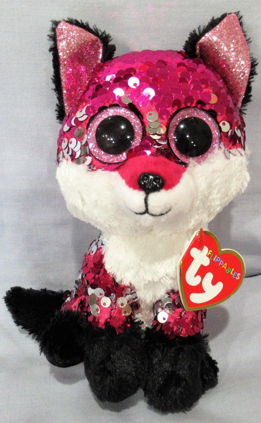 Ty 19203  Jewel - Fox - Ty Flippables Sequin Beanie 6 Boos - New With Mint  Tags -  BUY IT NOW ONLY   16.5 on  eBay  jewel  flippables  sequin  beanie 2a9fa5623e2d