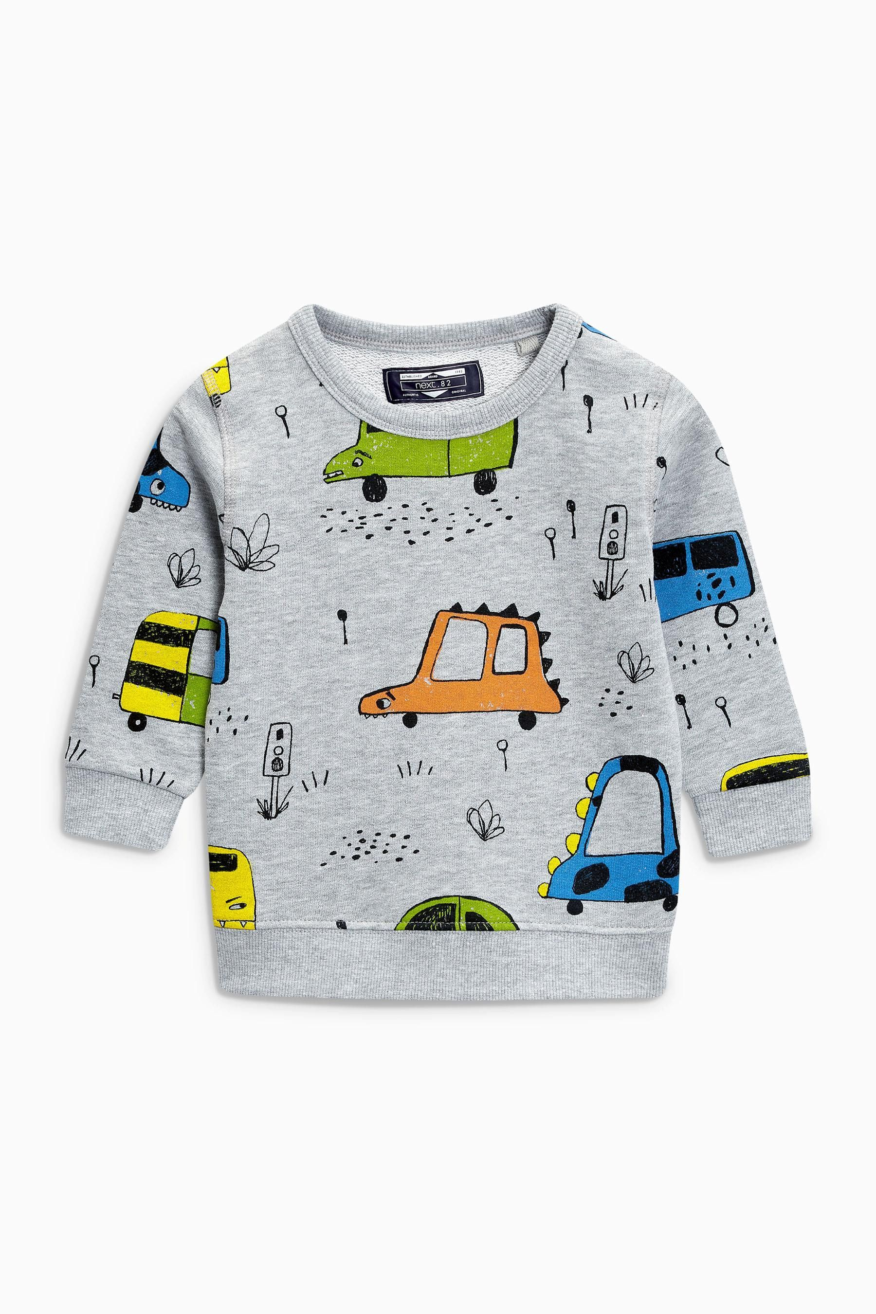 98ddc36e8 Buy Stripe And Car All Over Print Crew Two Pack (3mths-6yrs) from ...