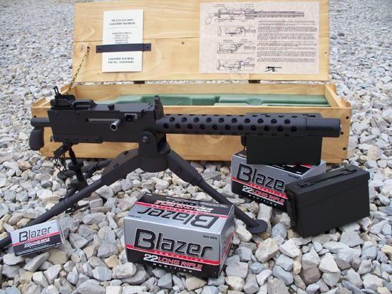 Belt Fed miniature gun, 50% of scale size.