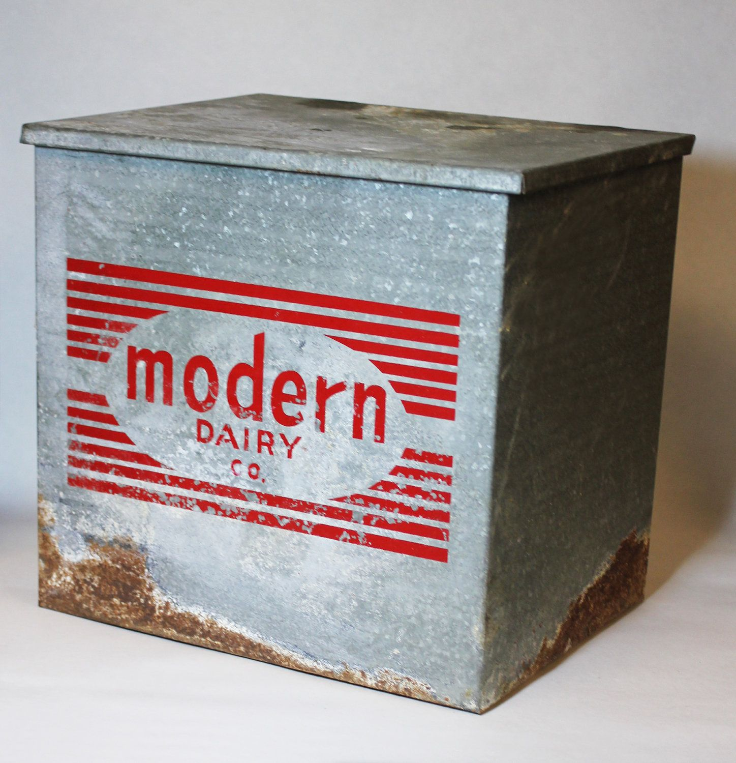 Vintage Milk Cooler Retro Insulated Metal Modern Dairy Box For Home Delivery Bar Storage C 1960s 70s Milk Coolers Milk Delivery Vintage Housewares