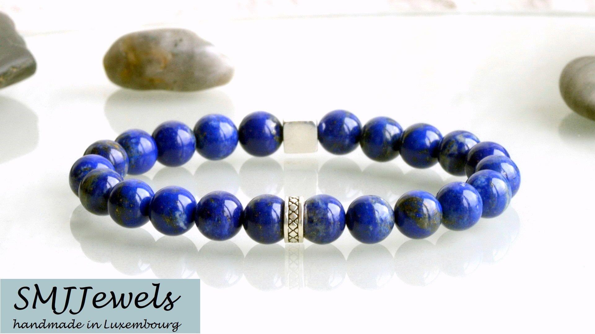 Handmade Cuir Noir Tressé Bracelet bleu turquoise perles magnétique Bracelet