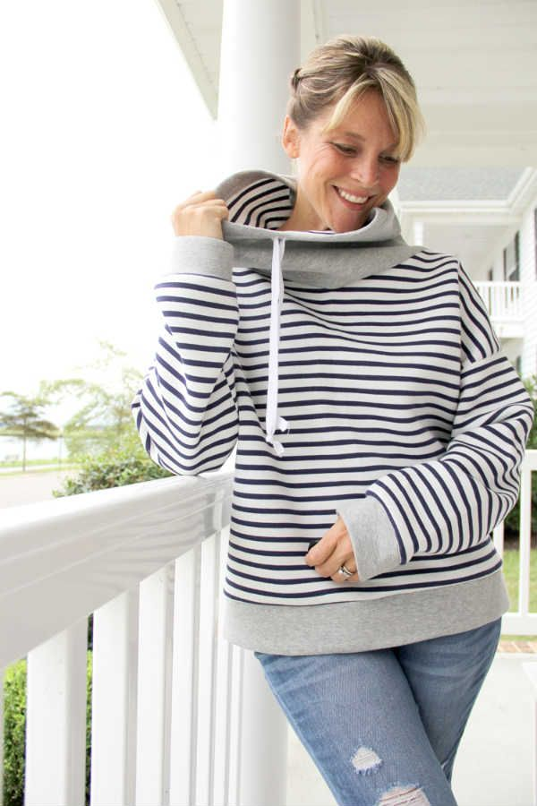 patron couture pull col roule
