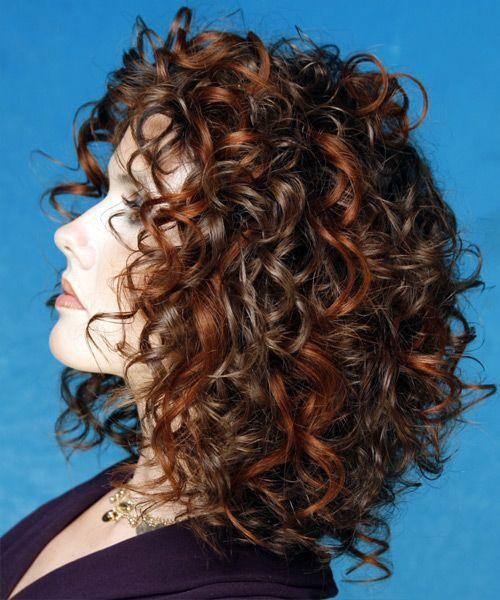 Mittlere Haarschnitte für glattes Haar Formale mittlere lockige Frisur – – 7683   Die Haare…..
