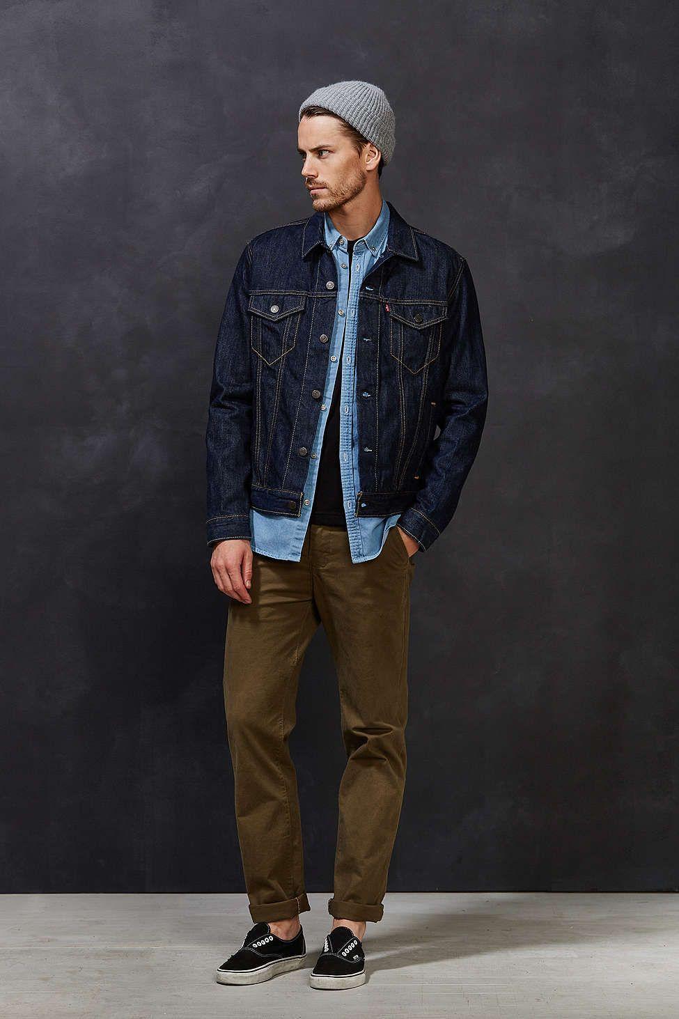 Levi's Domingo Rinse Denim Trucker Jacket   Street fashion men