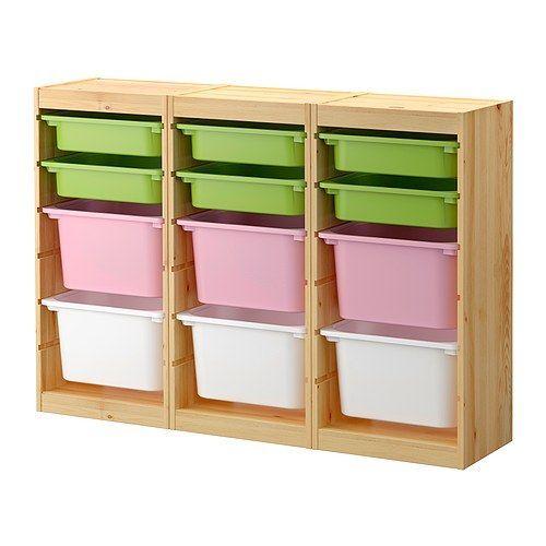trofast aufbewahrung mit boxen ikea auf kindergr e abgestimmt damit die kleinen alles. Black Bedroom Furniture Sets. Home Design Ideas