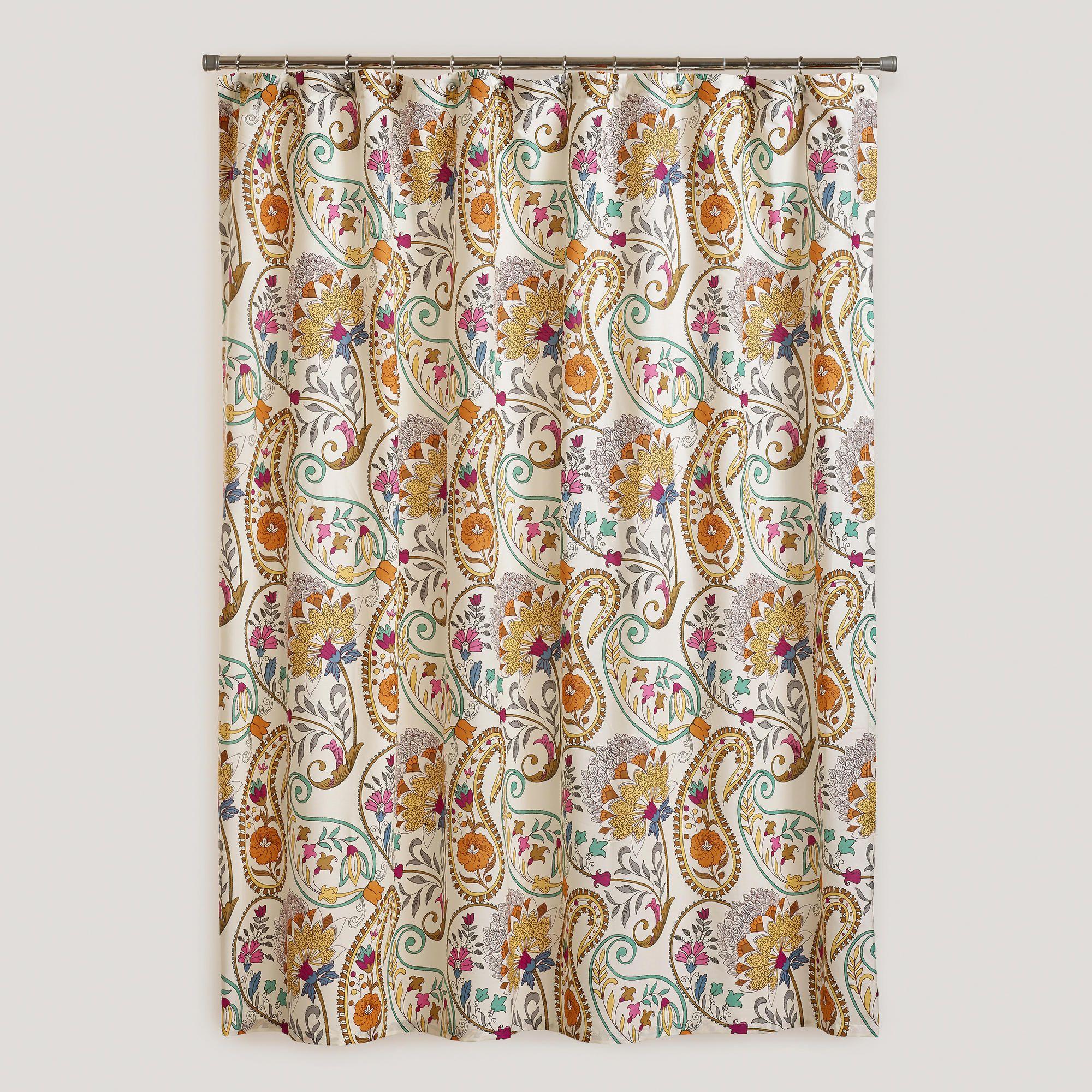 Paisley Floral Shower Curtain World Market Floral Shower