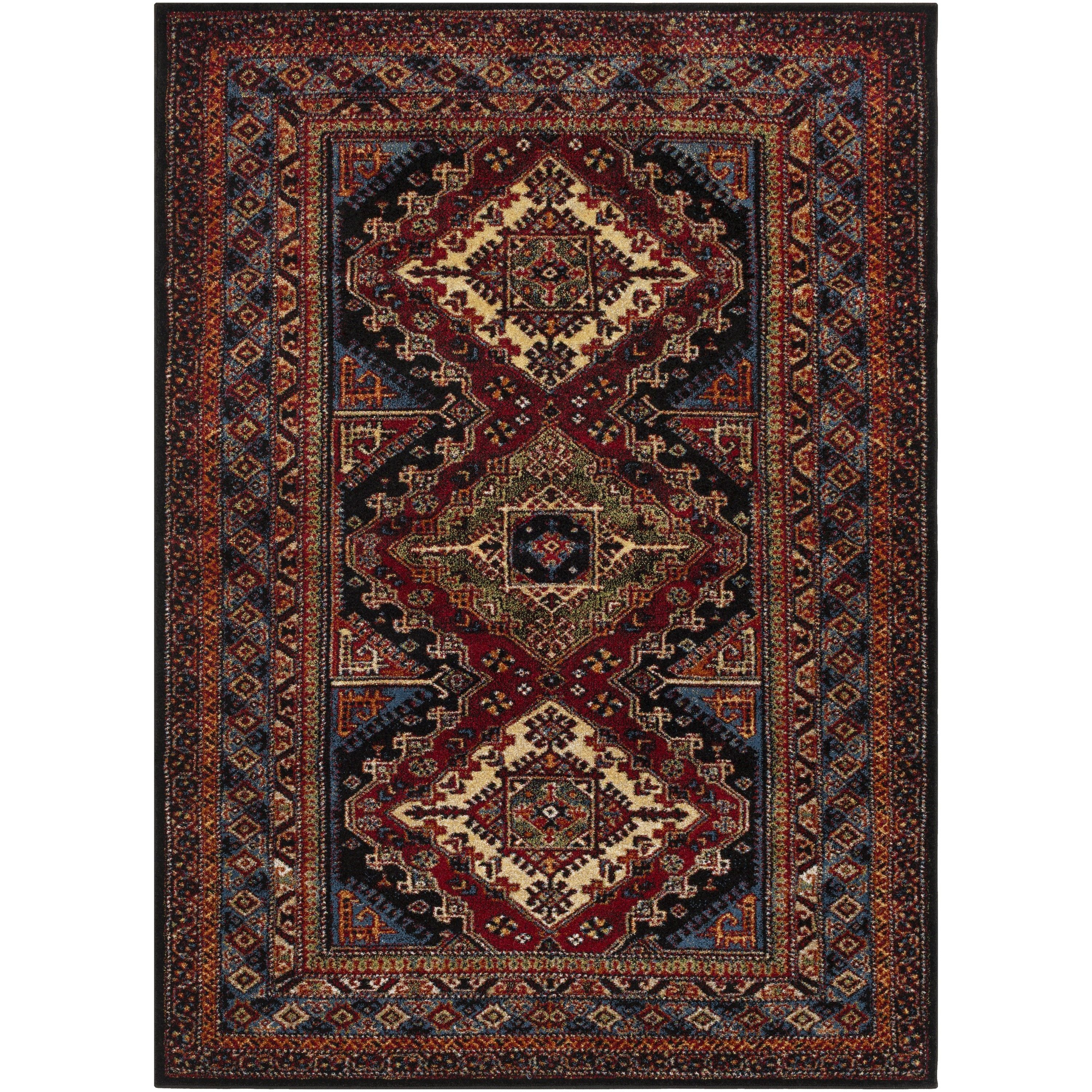 Rich Moody Hues And A Classic Traditional Motif Make Our Asme Rug A Showstopper In Any Living Space We Love Black Area Rugs Area Rugs Traditional Area Rugs