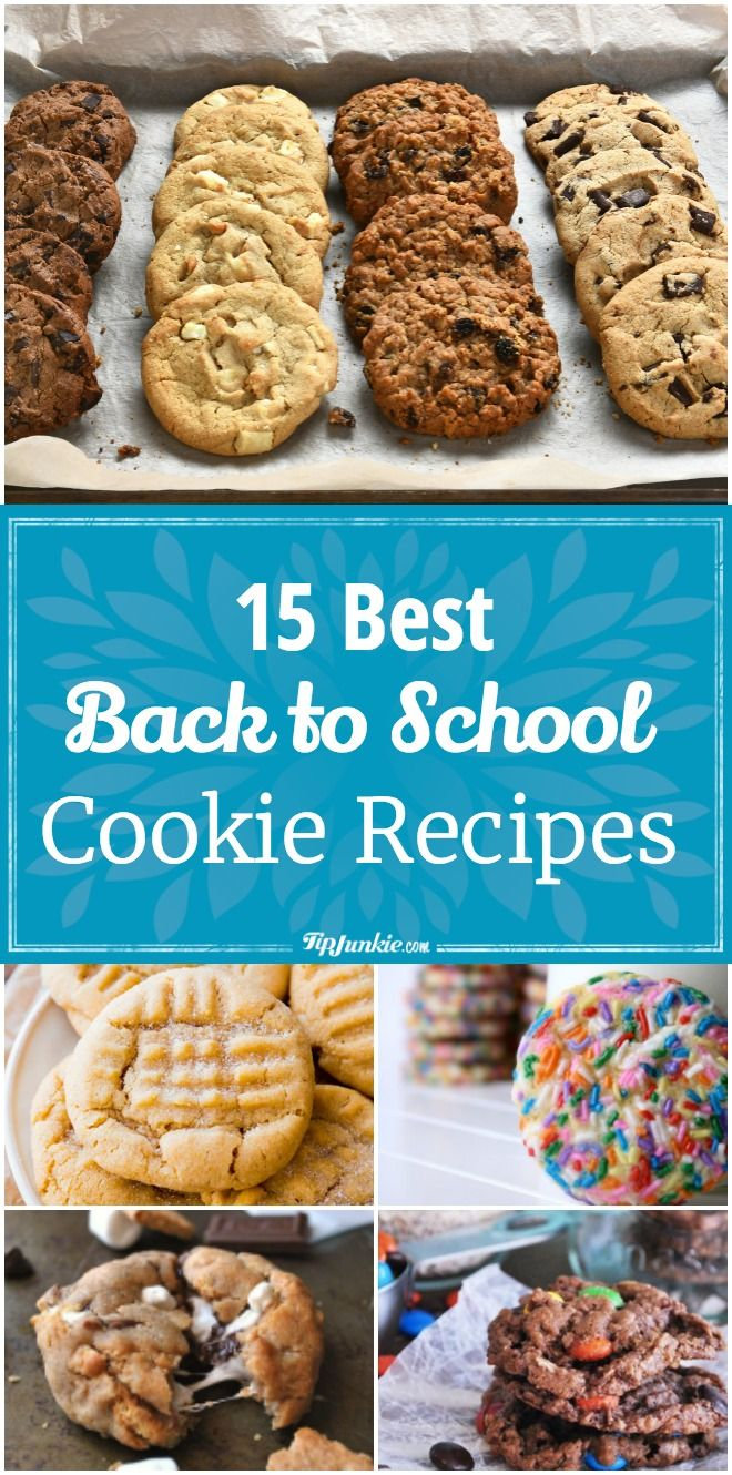 15 Best Back to School Cookie Recipes School cookies
