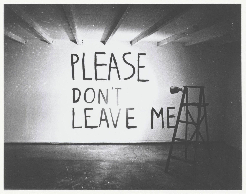 Please Dont Leave Me Bas Jan Ader 1992 Collectie Boijmans