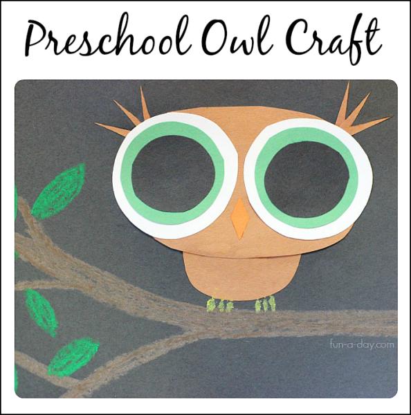 Book Inspired Preschool Owl Craft Art Ideas For Kids Pinterest