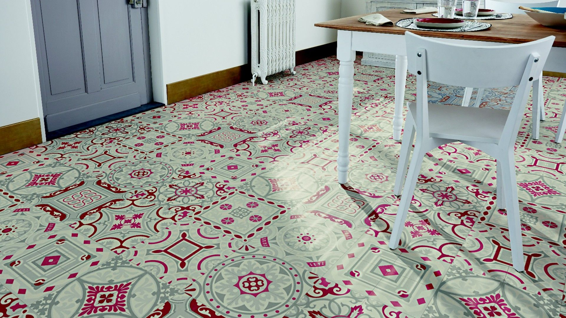 Sol vinyle happitex shalimar rouge carreaux fa ence pinterest carreaux - Carrelage ciment saint maclou ...